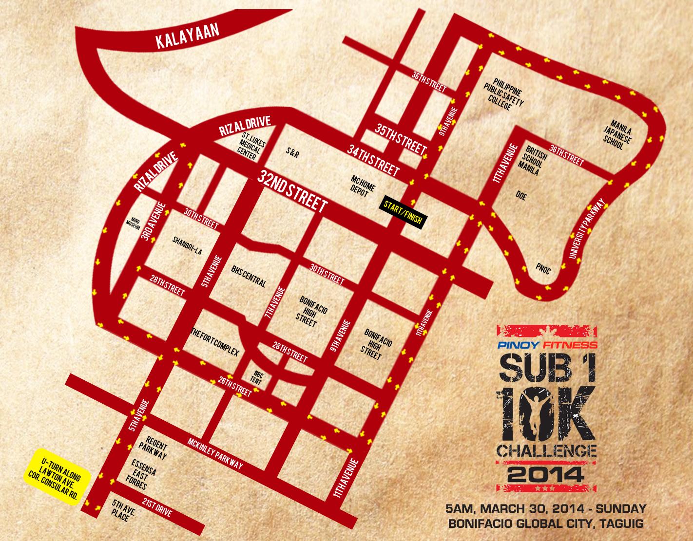 pf sub1 10k race map