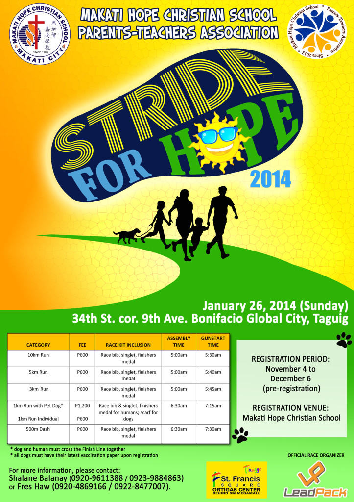 Stride for Hope Poster
