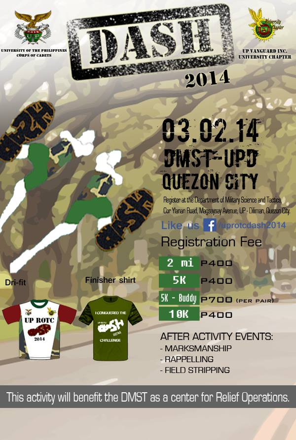 UP-ROTC-Dash 2014-poster