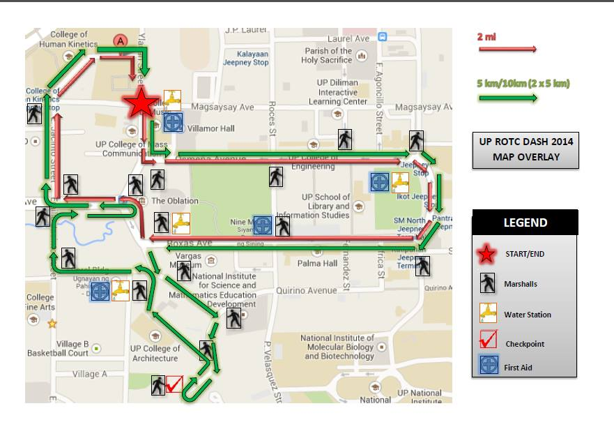 UP-ROTC-Dash 2014-route-map