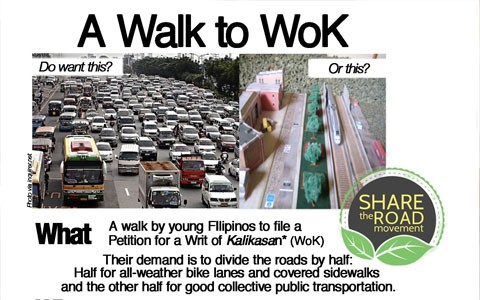 Walk to WoK - share the road movement 2014 cover