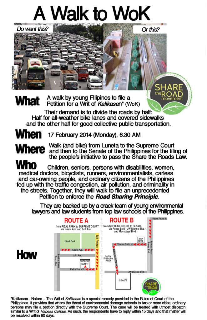Walk to WoK - share the road movement 2014 poster 1