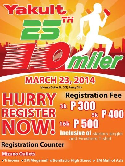 Yakult-10-miler-run-2014-poster