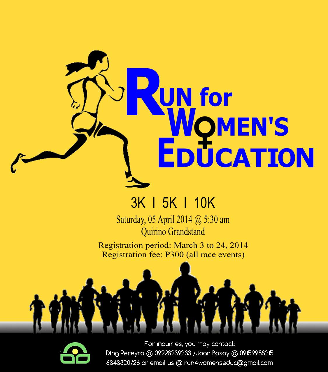 run-for-women's-education-2014-poster | Pinoy Fitness