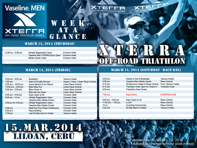 vaseline-men-xterra-off-road-triathlon-2014-schedule