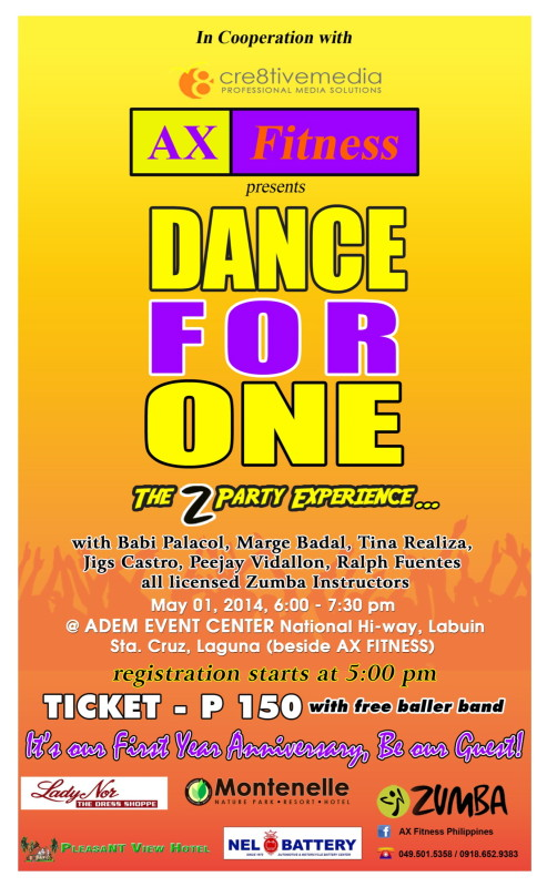 ax-fitness-dance-for-one-2014-poster