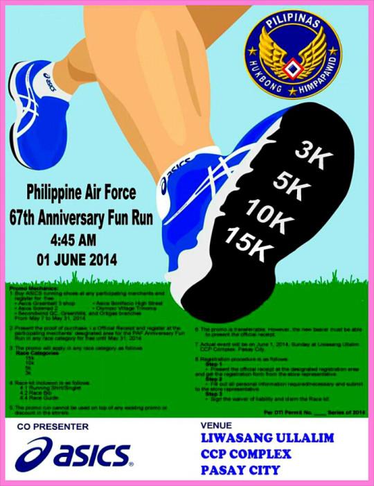 philippine-air-force-67th-anniversary-run-2014-poster