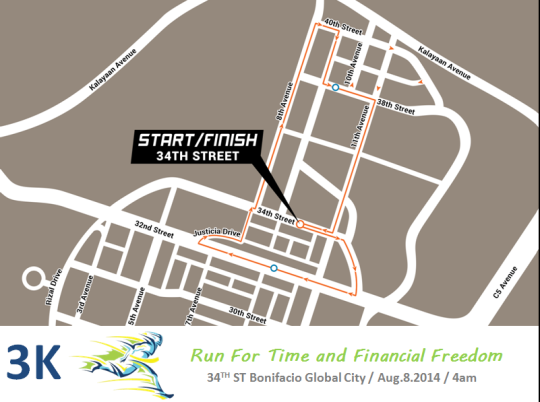 run-for-time-&-financial-freedom-2014-route-map-3K