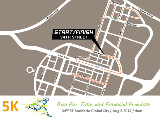 run-for-time-&-financial-freedom-2014-route-map-5K