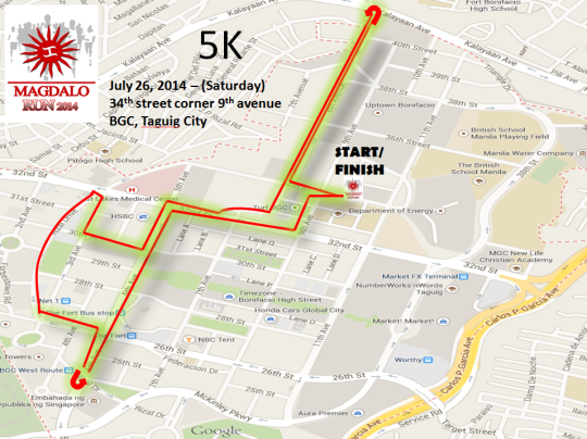 5K Route New