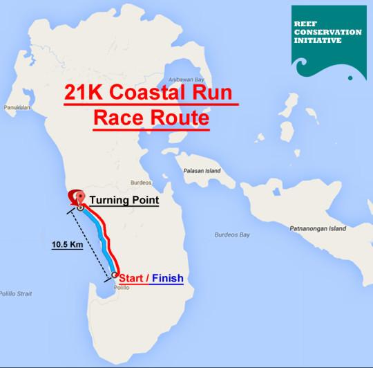 Polillo Run Race Map