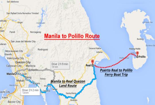 Polillo Run travel map