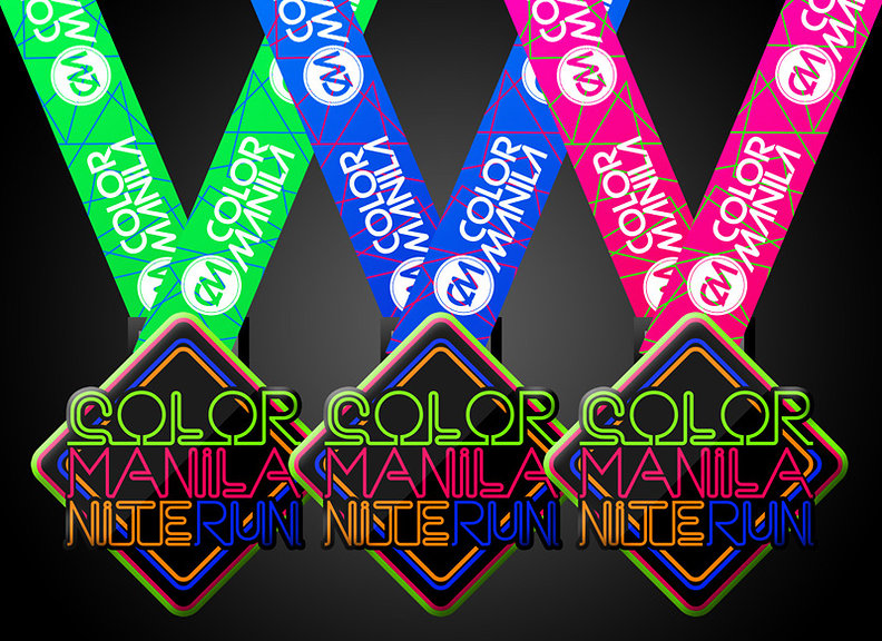 colormanilanite   Nite Run Cebu medal