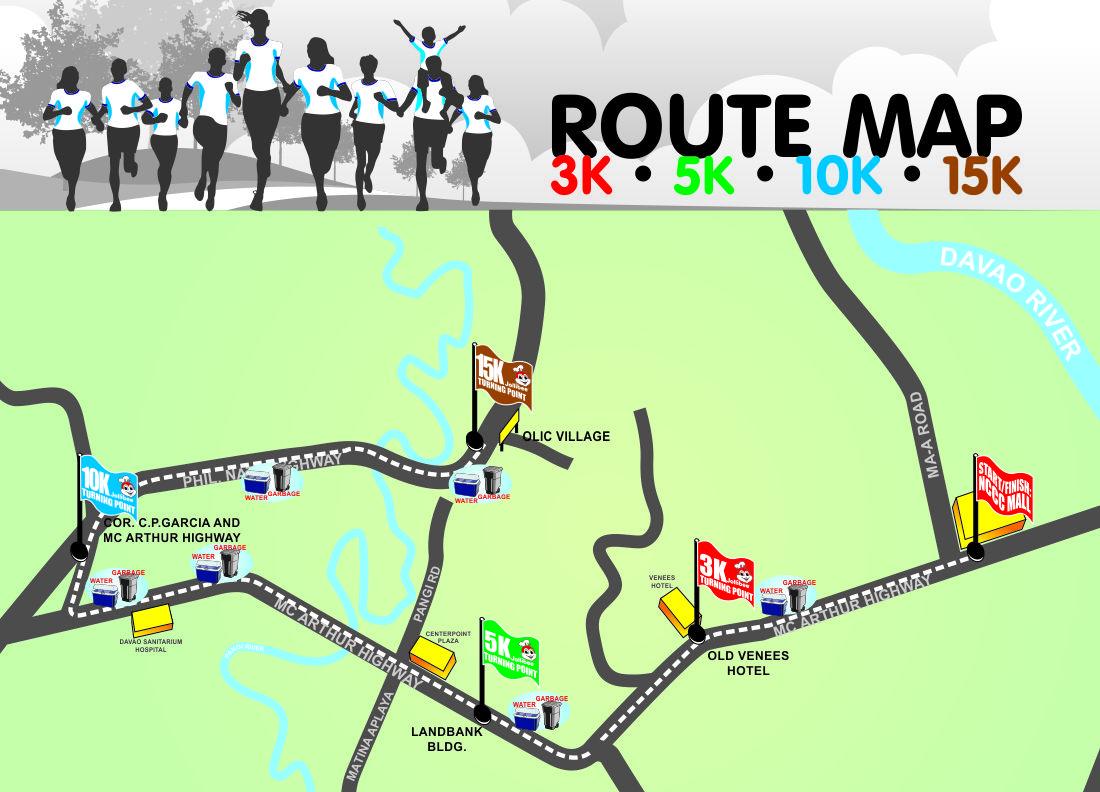 Thjollibeefamilyfunrunroutemap Pinoy Fitness - How to map a run