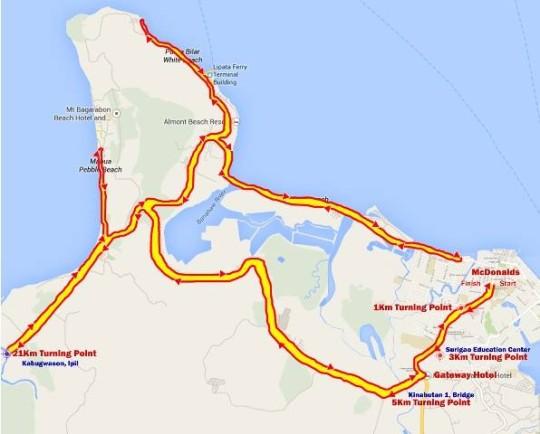 1st-surigao-city-marathon-2014-route-map