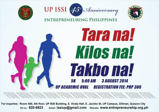 UP-ISSI-45th-anniversary-tara-na-kilos-na-takbo-na-2014-poster