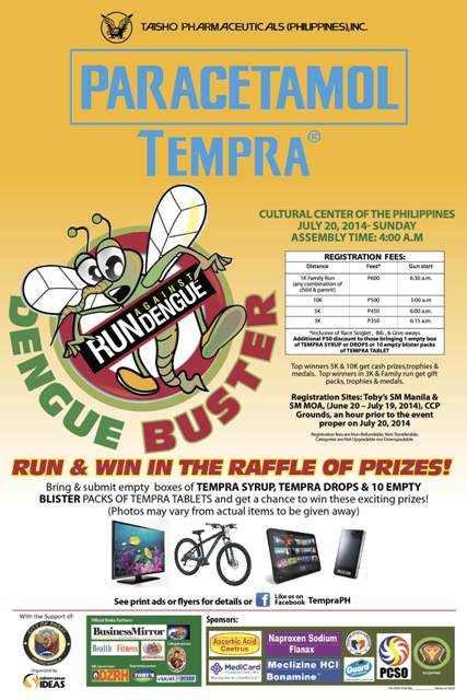 tempra-run-against-dengue-2014-poster