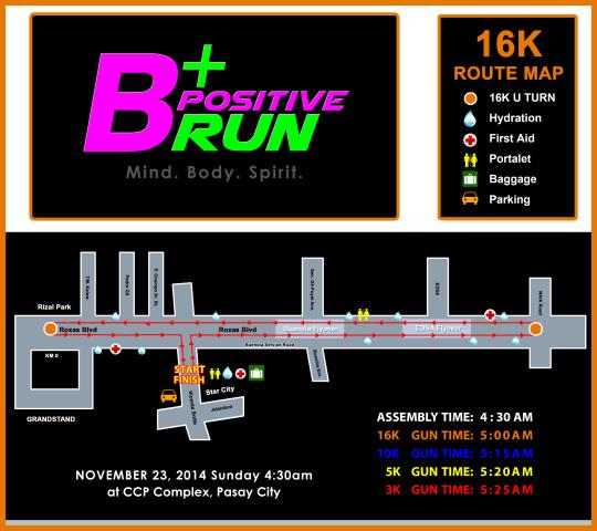 BPOSITIVE 16K RACE MAP