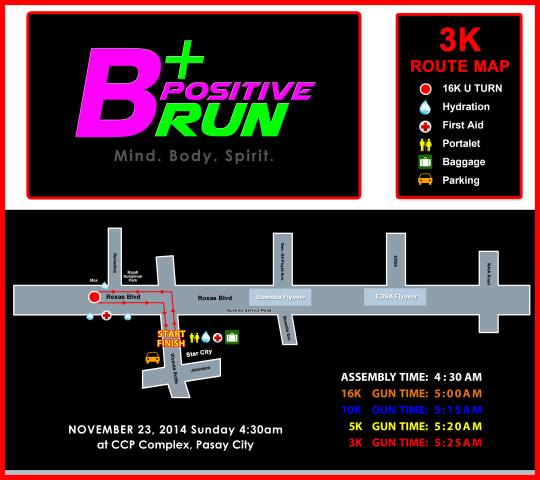 BPOSITIVE 3K RACE MAP