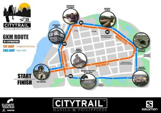salomon-citytrail-manila-2014-6K-route-map