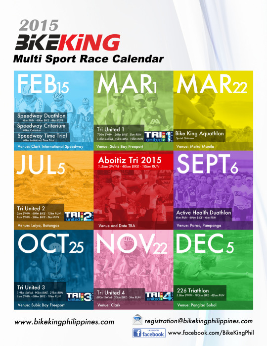 2015 Bike King race calendar v2