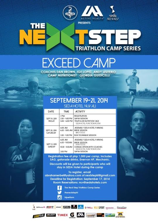 Next Step Tri Camp Exceed Poster