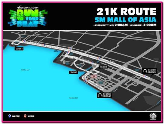 Rexona-Run-2014-21K-Map