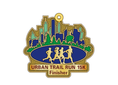 Urban-Trail-15K-Run-Medal