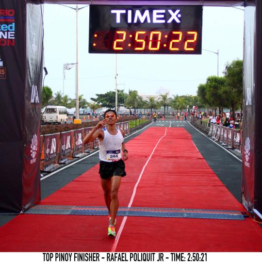 Top Pinoy Finisher - Rafael Poliquit Jr