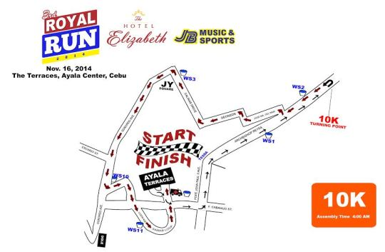 Hotel-Elizabeth-Cebu's-3rd-Royal-Run-10K-Map