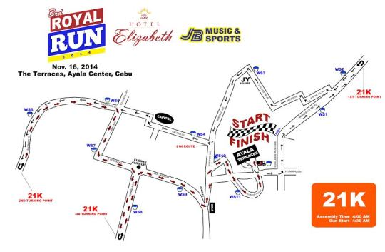 Hotel-Elizabeth-Cebu's-3rd-Royal-Run-21K-Map