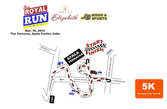 Hotel-Elizabeth-Cebu's-3rd-Royal-Run-5K-Map