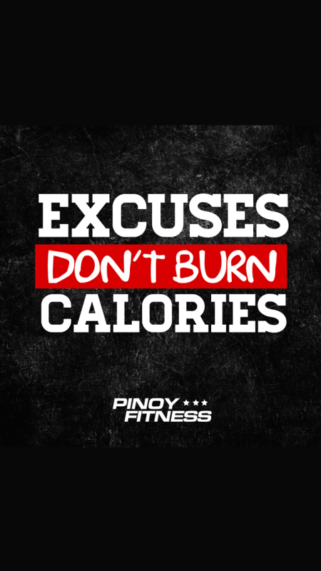 excuses-dont-burn-calories