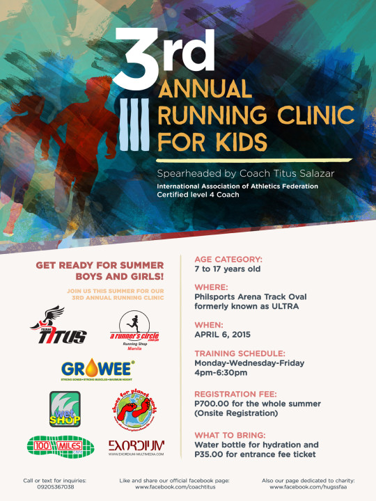 3rd-Annual-Running-Clinic-For-Kids-Poster
