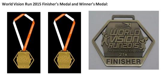 WV Run 2015 medals