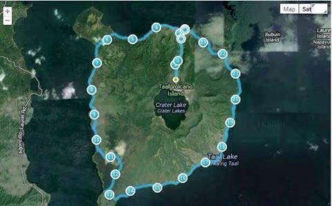 2nd-Taal-Volcano-25K-Trail-Run-Route-Map