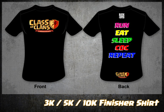 FINAL 3K 5K 10K FINISHER SHIRT