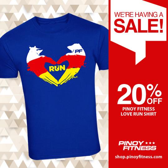 PF Love Run Shirt Sale