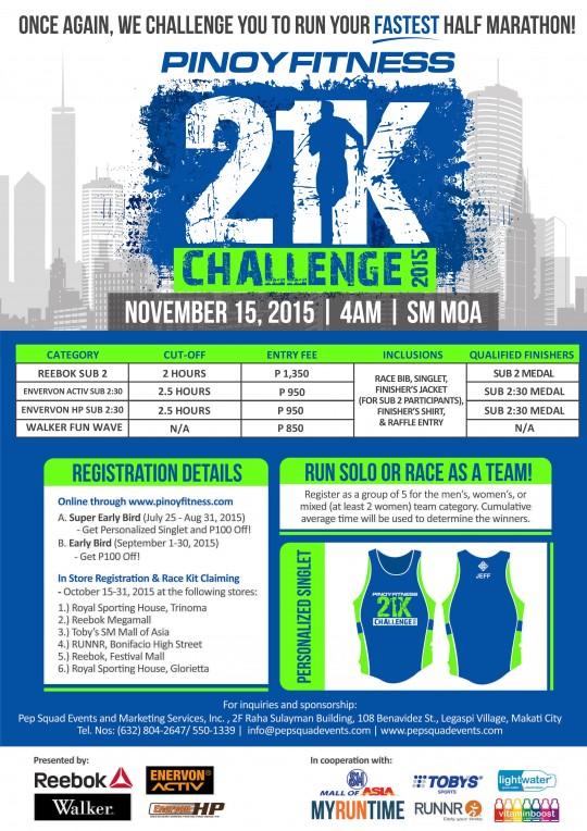 PF 21K Challenge 2015 Poster