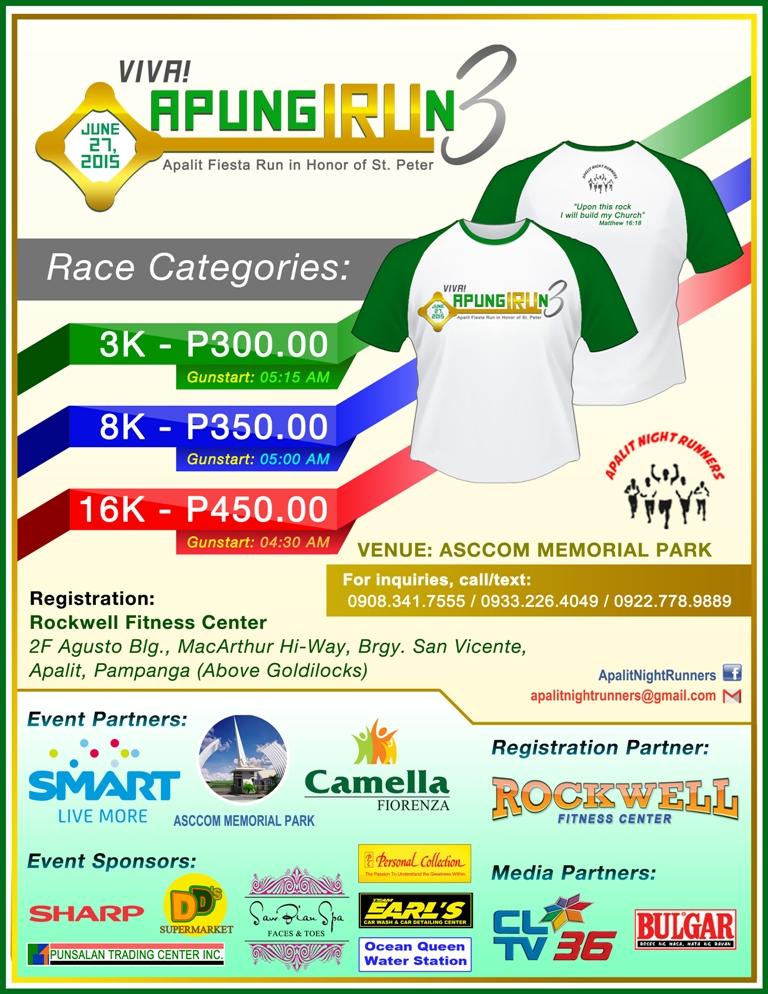 Viva APUNG IRUn 3 2015 @ Apalit, Pampanga   Registration, Singlet