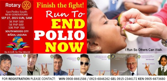 finish the fight againts polio!