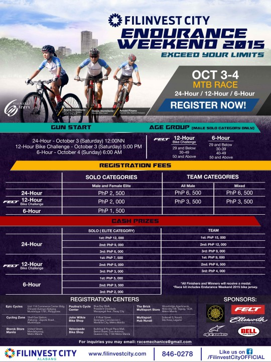 Filinvest City Endurance Weekend 2015 Poster