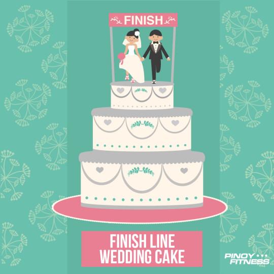 Finish Line Wedding Cake