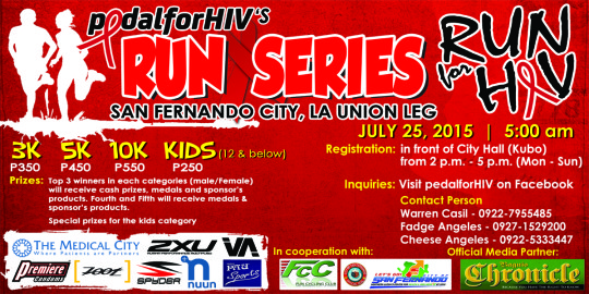 PEDAL FOR HIV RUN 2015 POSTER