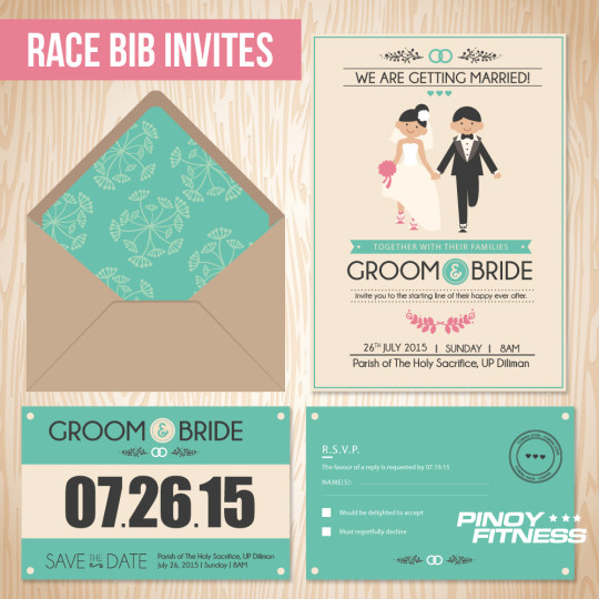 Race Bib Invites