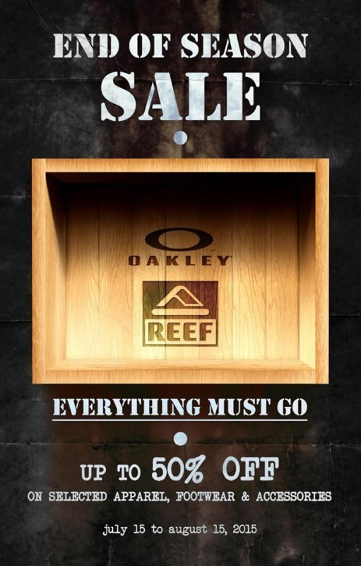 Oakley-and-Reef-End-of-Season-Sale-July-August-2015-poster