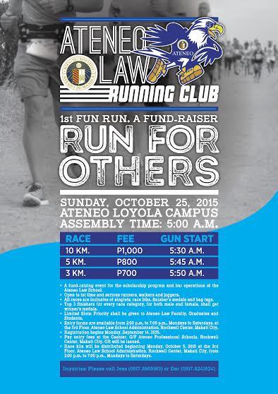 Ateneo-law-running-club-fun-run-poster