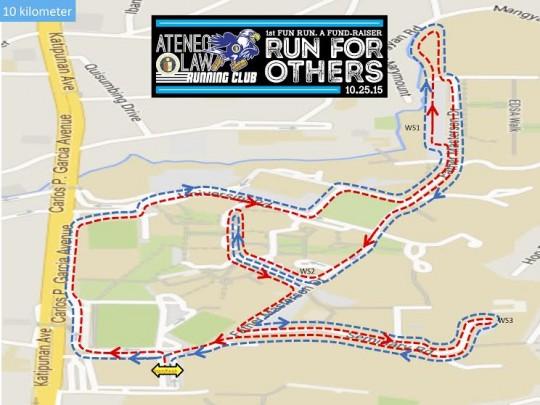 Ateneo-law-running-club-fun-run-route-map-10k