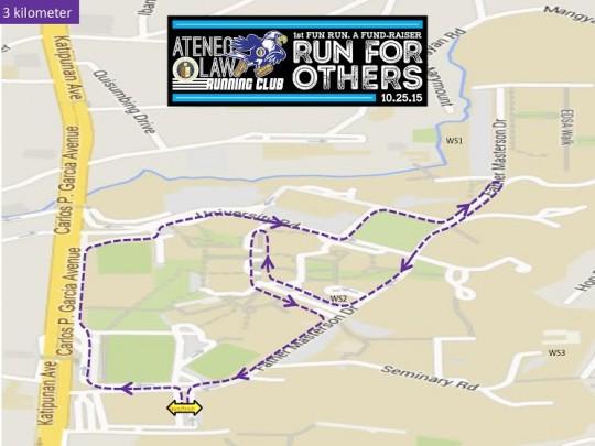 Ateneo-law-running-club-fun-run-route-map-3k