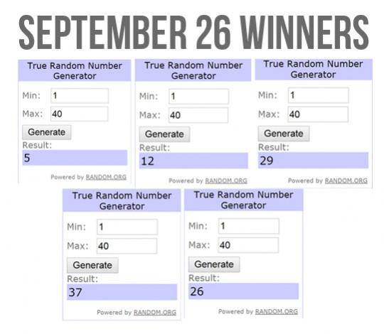 Slidefest September 26 Winners